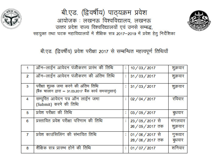 Online Application Form For Up B Ed on